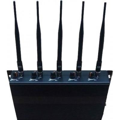 5 полос. Регулируемый блокатор сигналов Cell phone