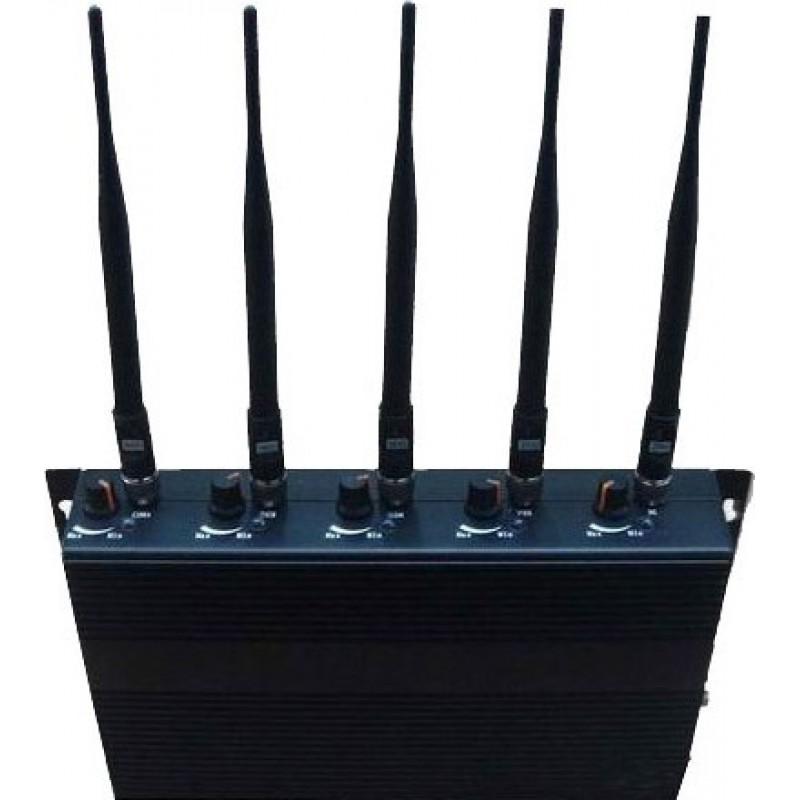 89,95 € 免费送货 | 手机干扰器 5个乐队。可调节信号阻断器 Cell phone