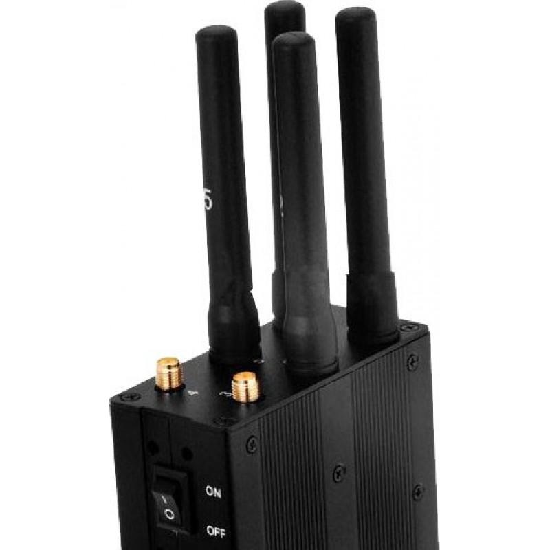 107,95 € Kostenloser Versand | Handy-Störsender Tragbarer Signalblocker mit Hochleistungsbatterie GPS 3G Portable