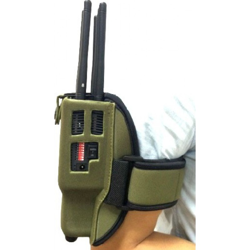 161,95 € Free Shipping | Cell Phone Jammers Handheld signal blocker. 8 Bands. All cell phones signal blocker. Nylon case GPS Handheld