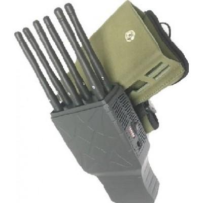 6 bandes. Bloqueur de signal portable avec étui en nylon GPS