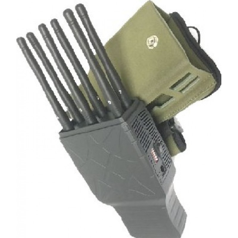 Cell phone jamming device for home - Handheld 6 Bands GSM CDMA 3G and Lojack GPS Signal Jammer with Nylon Case