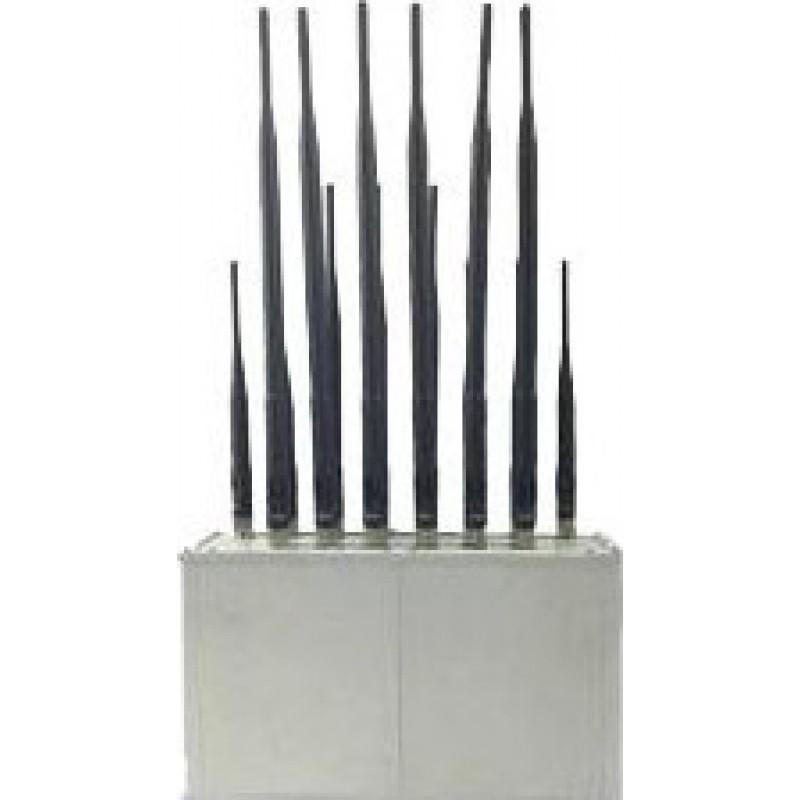 92,95 € Envoi gratuit | Bloqueurs de Téléphones Mobiles 8 bandes. Bloqueur de signal de bureau GPS GSM Desktop