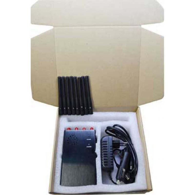 132,95 € Kostenloser Versand   Handy-Störsender 8 Antennen. Handheld-Signalblocker GPS 3G Handheld