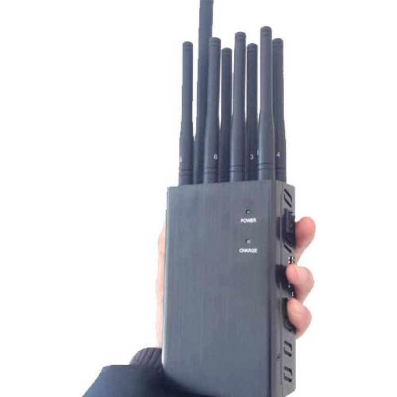 132,95 € Бесплатная доставка | Блокаторы мобильных телефонов 8 антенн. Ручной блокатор сигналов GPS 3G Handheld