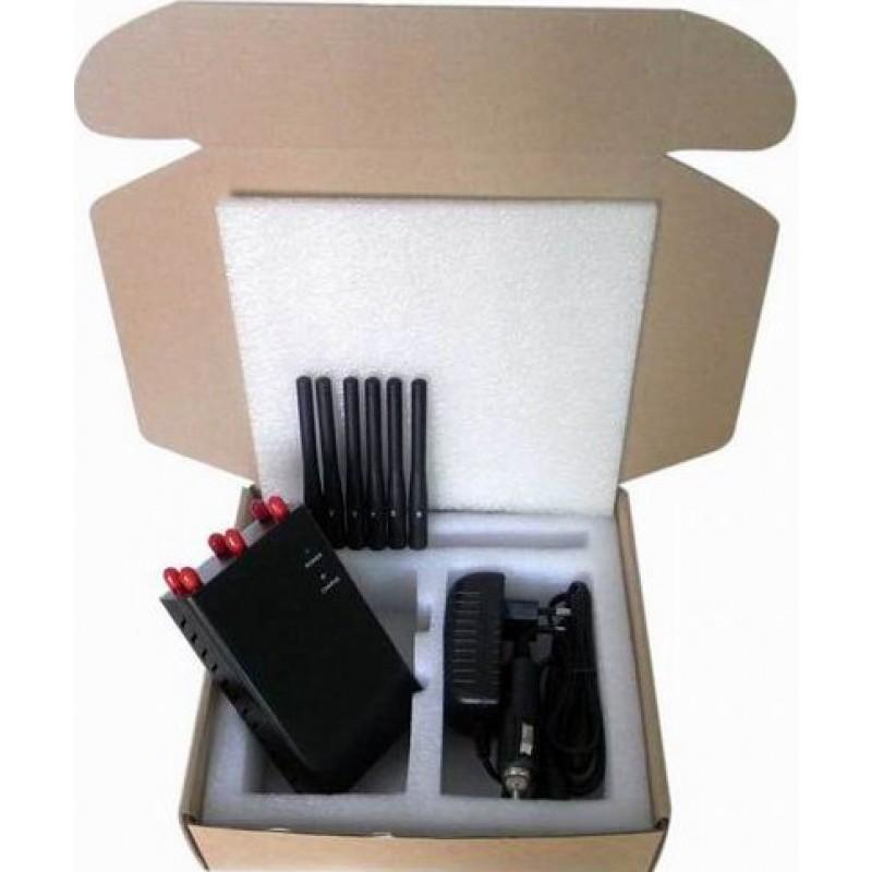 97,95 € Бесплатная доставка | Блокаторы мобильных телефонов 6 антенн. Портативный блокатор сигналов Cell phone GSM Portable