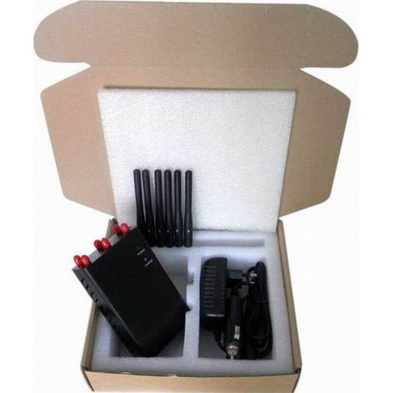 97,95 € Free Shipping | Cell Phone Jammers 6 Antennas. Selectable and portable signal blocker GPS 3G Portable