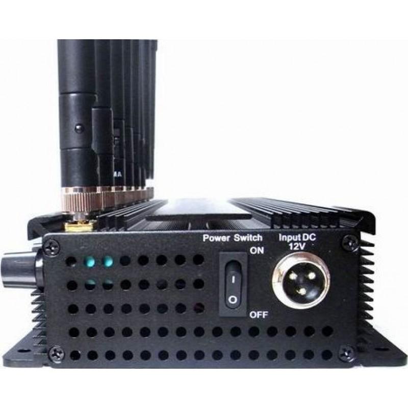 137,95 € Envoi gratuit | Bloqueurs de Téléphones Mobiles 8 bandes. Bloqueur de signaux haute puissance réglable Cell phone 3G