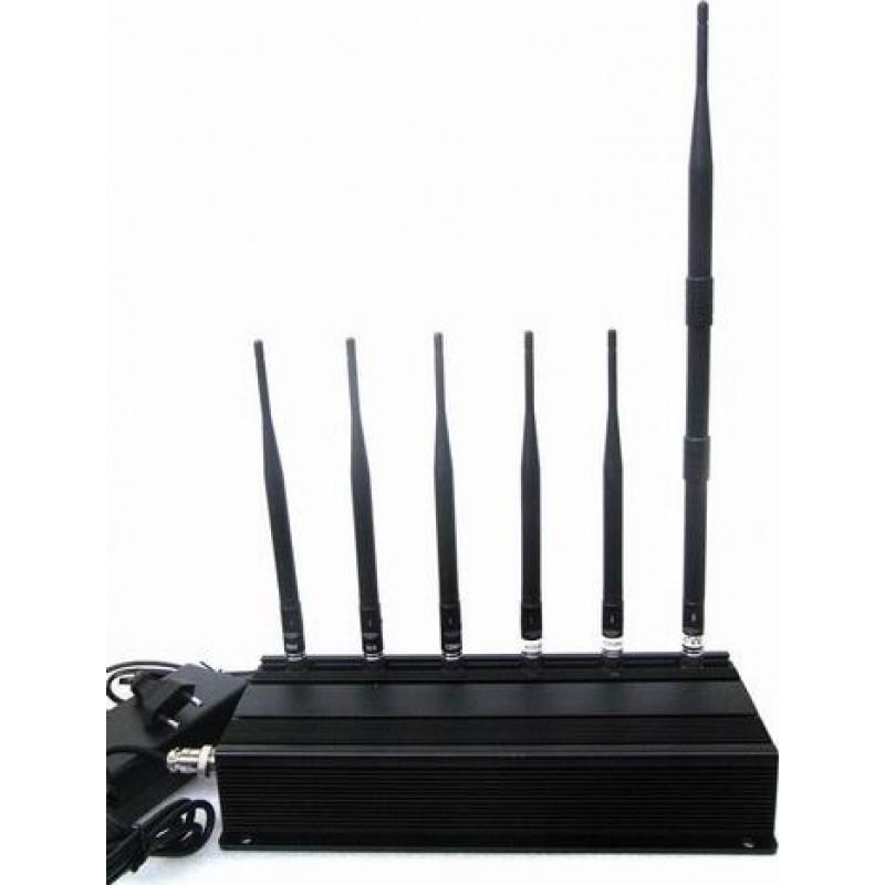 114,95 € Envoi gratuit | Bloqueurs de Téléphones Mobiles 6 antennes bloqueur de signal Cell phone 3G