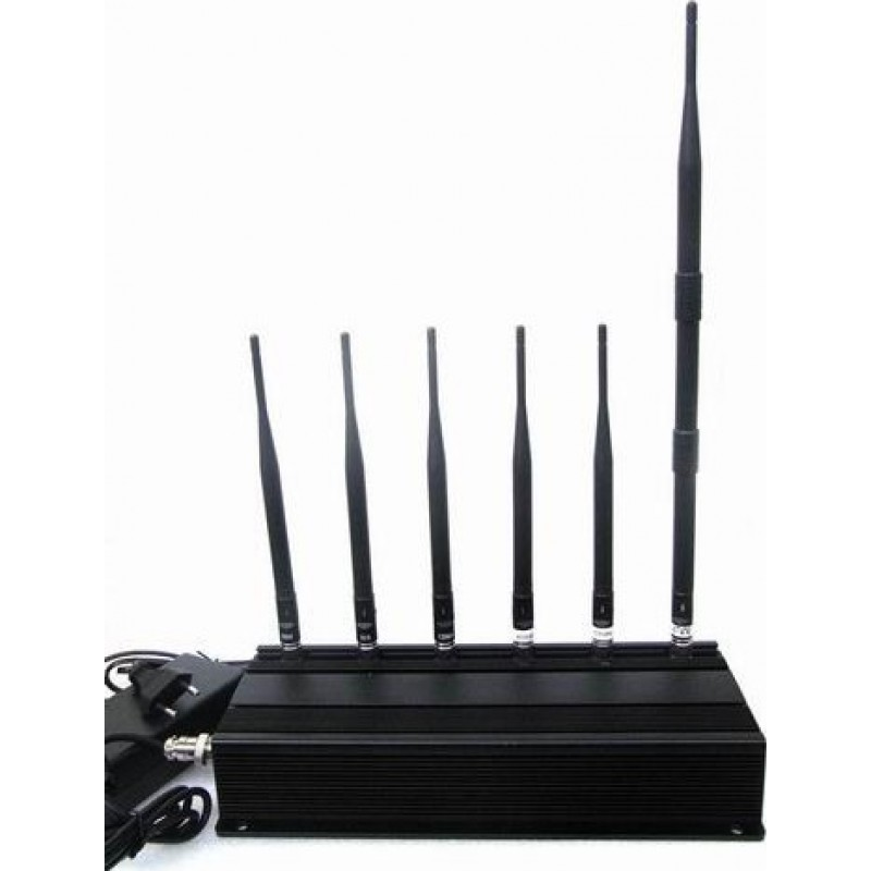 114,95 € Free Shipping | Cell Phone Jammers 6 Antennas signal blocker Cell phone 3G