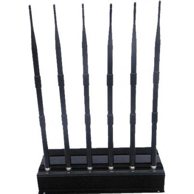 Bloqueur de signaux haute puissance. 6 antennes Cell phone