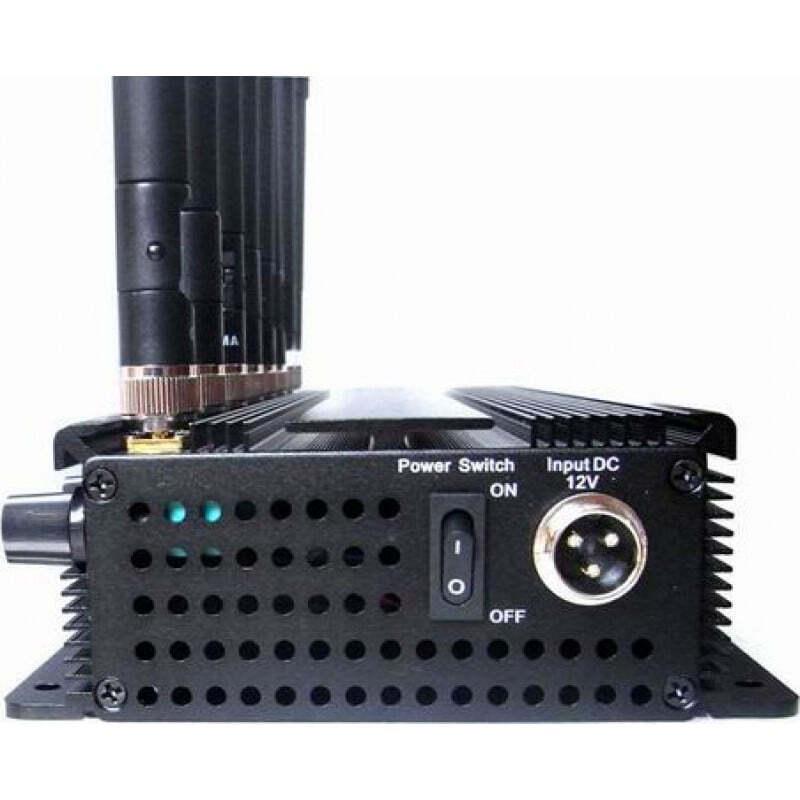 186,95 € 免费送货   手机干扰器 8个乐队。可调节强大的多功能信号阻断器 Cell phone 3G