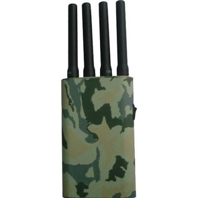 Portable signal blocker with camouflage cover GPS