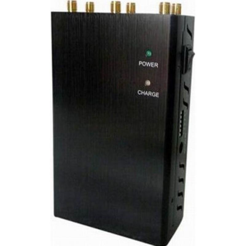 97,95 € Envoi gratuit | Bloqueurs de Téléphones Mobiles 6 antennes. Bloqueur de signal sélectionnable et portable GPS 4G Portable