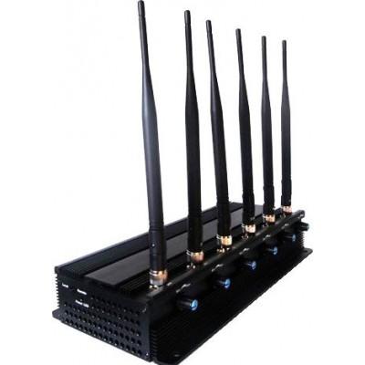 Регулируемый блокатор сигналов высокой мощности. 6 мощных антенн Cell phone