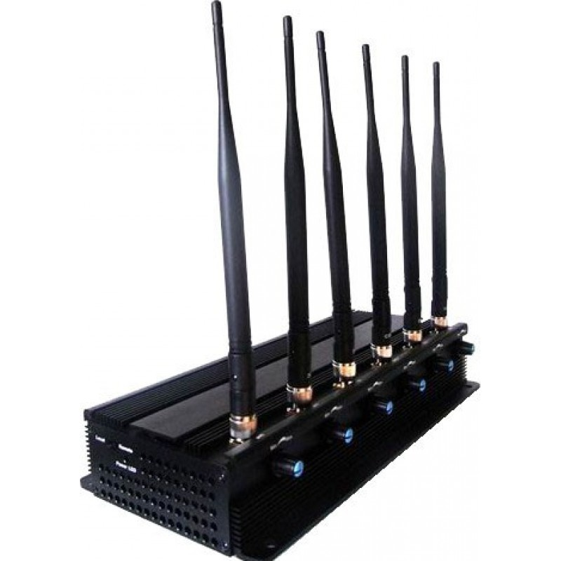 99,95 € Free Shipping | Cell Phone Jammers Adjustable high power signal blocker. 6 Powerful antennas Cell phone 3G