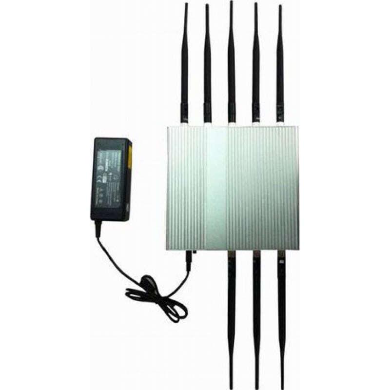 139,95 € Бесплатная доставка | Блокаторы мобильных телефонов 8 антенн. Блокировщик сигнала высокой мощности 16 Вт Cell phone 3G