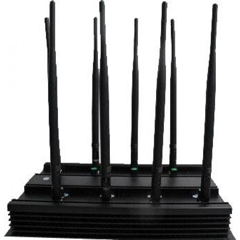 196,95 € Envoi gratuit | Bloqueurs de Téléphones Mobiles 8 bandes. Bloqueur de signaux toutes fréquences réglable (version européenne) GPS 3G