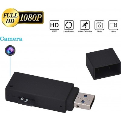 49,95 € Spedizione Gratuita | USB Drives Spia Chiavetta USB. Telecamera nascosta. Videoregistratore. 1080P HD. Mini U-Disk portatile