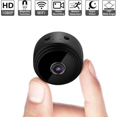 49,95 € Envio grátis | Outras Câmeras Espiã Pequena câmera de vídeo oculta. Wi-fi. Sem fio. 1080p Full HD. Visão noturna. Detector de movimento
