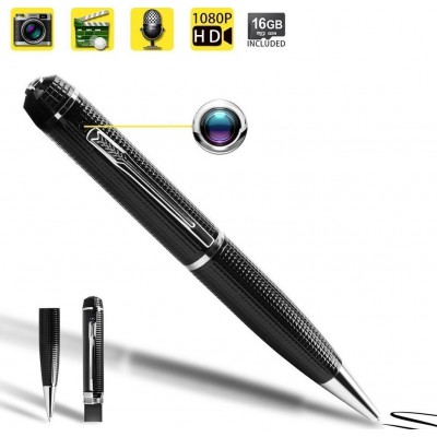 41,95 € Kostenloser Versand | Stift mit Versteckter Kamera Spy-Pen-Kamera. Mini-Videorecorder. 1080P HD. Fotoaufnahmefunktion. 16 GB Speicherkarte eingebaut