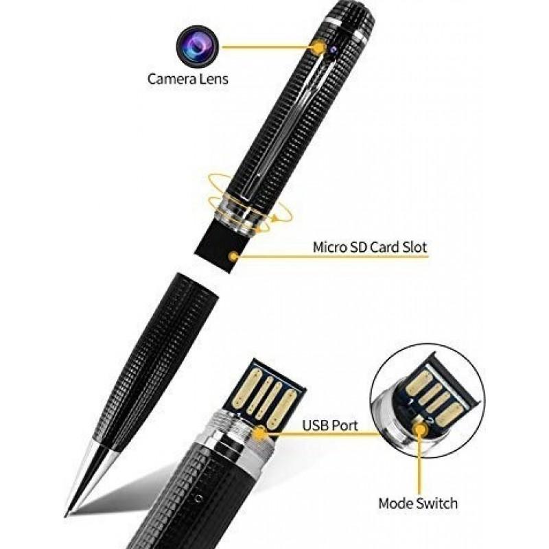 41,95 € Бесплатная доставка   Шпионские ручки Spy Pen Camera. Мини-видеорегистратор. 1080P HD. Функция фотографирования. Карта памяти 16GB Встроенная