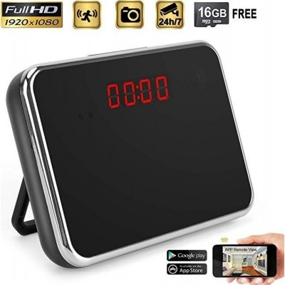 57,95 € Бесплатная доставка | Шпионские часы Скрытая камера Часы. 1080P HD. Wireless. Широкоугольный объектив 140 °. Определение движения. 16 ГБ памяти