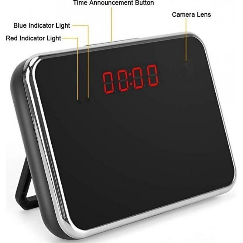 57,95 € 免费送货 | 时钟隐藏的相机 隐藏的相机时钟。 1080P高清。无线。 140°广角镜。运动检测。 16GB记忆体