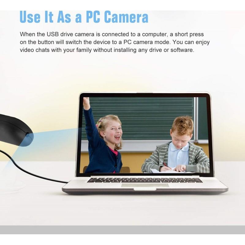 39,95 € Envoi gratuit | Clé USB Espion Caméra Espion Cachée. USB 2.0. 960P. Caméra espion avec microphone intégré. Enregistrement vidéo et audio