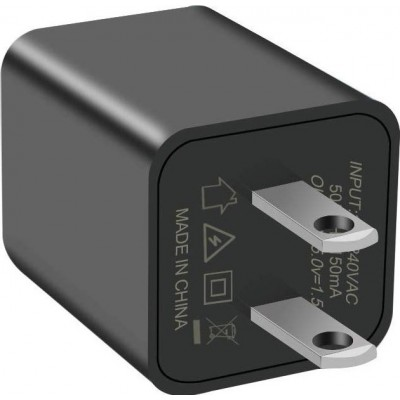 41,95 € 送料無料 | 隠しスパイアクセサリー ビデオ監視用の小型ビデオカメラ。ミニスパイカメラ。ナニー・カム。 HD 1080P。モーション検出。 16G SDカード