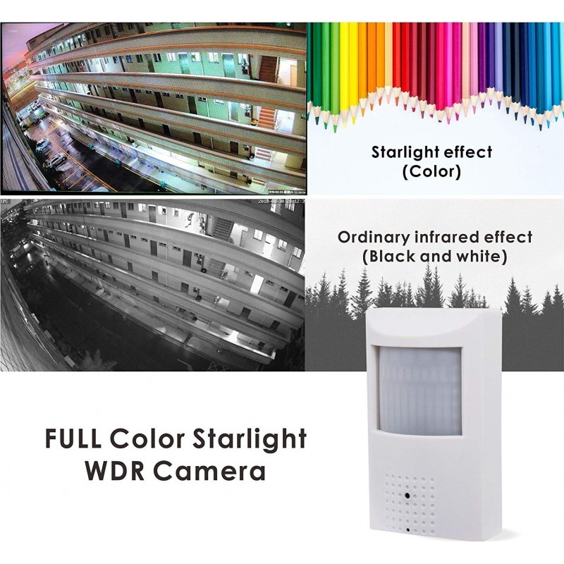 83,95 € Free Shipping | Other Hidden Cameras Security Hidden Camera. Plug&Play. 1080P. POE IP. Night Vision. PIR . Housing Spy Camera