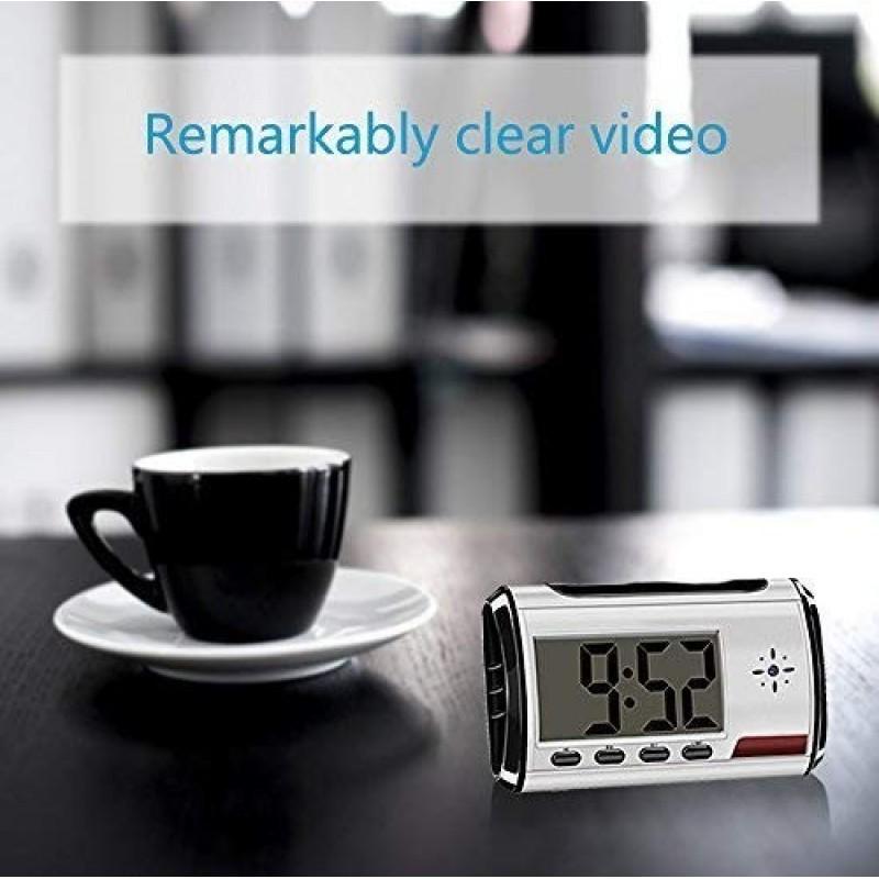 22,95 € 免费送货 | 时钟隐藏的相机 隐藏相机的时钟。间谍相机。长时间录像。监视器。保姆·坎