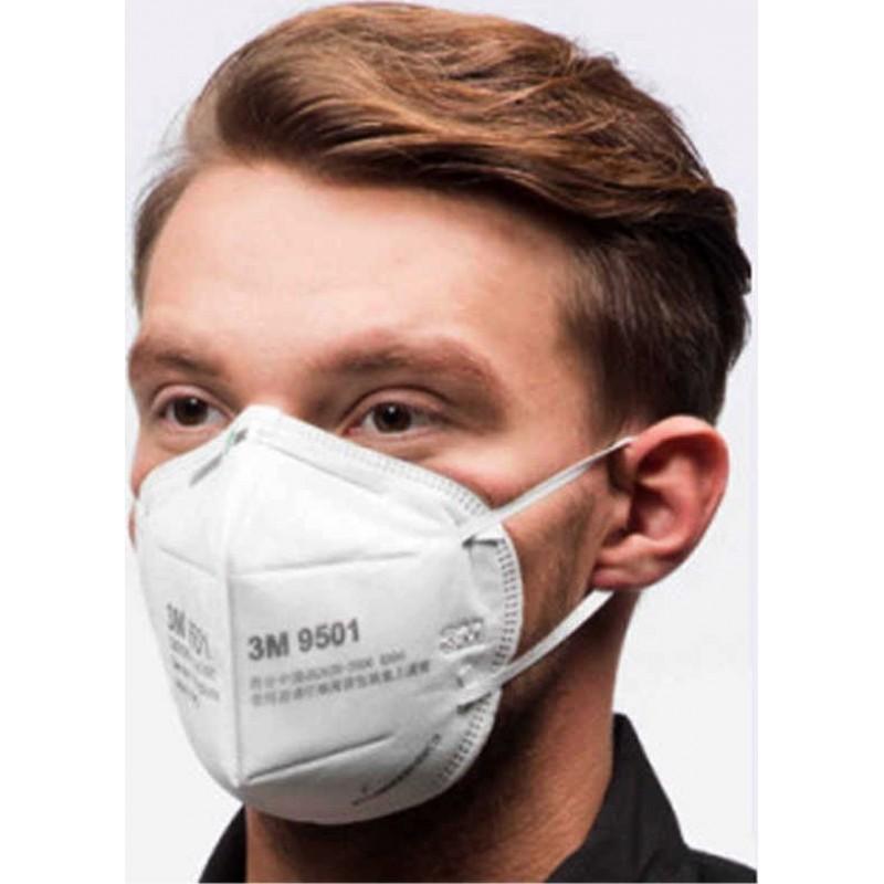 379,95 € Envio grátis | Caixa de 100 unidades Máscaras Proteção Respiratória 3M Modelo 9501 KN95 FFP2. Máscara de proteção respiratória. Máscara anti-poluição PM2.5. Filtro de partículas