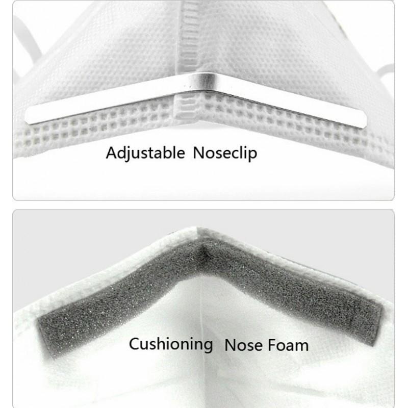 盒装2个 呼吸防护面罩 3M 型号9501 KN95 FFP2。呼吸防护面罩。 PM2.5防污染口罩。颗粒过滤器防毒面具