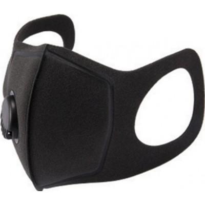 Коробка из 100 единиц Фильтровальная маска с активированным углем с дыхательным клапаном. PM2.5. Моющаяся и многоразовая хлопковая маска. унисекс