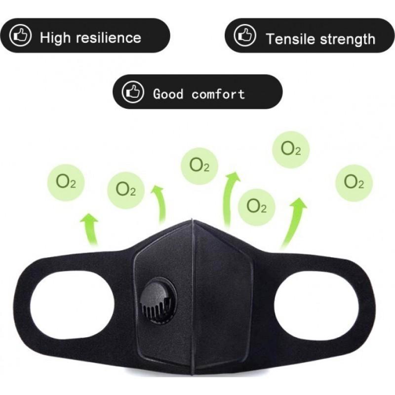 239,95 € Envoi gratuit | Boîte de 100 unités Masques Protection Respiratoire Masque filtrant à charbon actif avec valve respiratoire. PM2.5. Masque en coton lavable et réutilisable. Unisexe