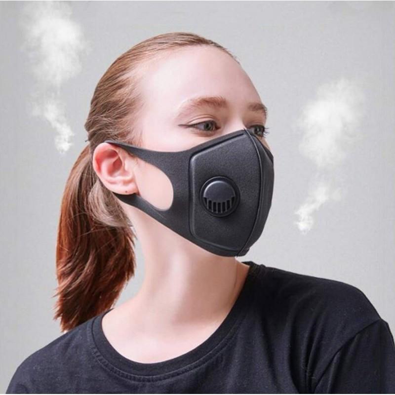 239,95 € Spedizione Gratuita | Scatola da 100 unità Maschere Protezione Respiratorie Maschera con filtro a carbone attivo con valvola di respirazione. PM2.5. Maschera in cotone lavabile e riutilizzabile. Unisex