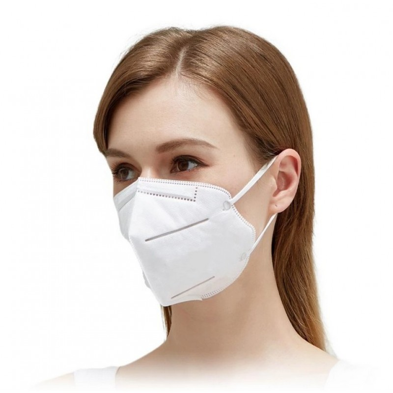 Boîte de 20 unités Masques Protection Respiratoire Filtration à 95% KN95. Masque de protection respiratoire. PM2.5. Protection à cinq couches. Anti virus et bactéries