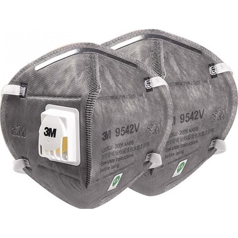 159,95 € Бесплатная доставка | Коробка из 20 единиц Респираторные защитные маски 3M 9542 В KN95 FFP2. Респираторная защитная маска с клапаном. PM2.5. Респиратор с фильтром частиц