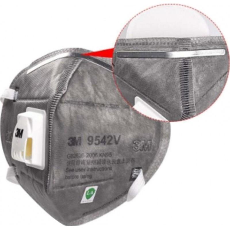 349,95 € Envoi gratuit | Boîte de 50 unités Masques Protection Respiratoire 3M 9542V KN95 FFP2. Masque de protection respiratoire avec valve. Respirateur à filtre à particules PM2.5