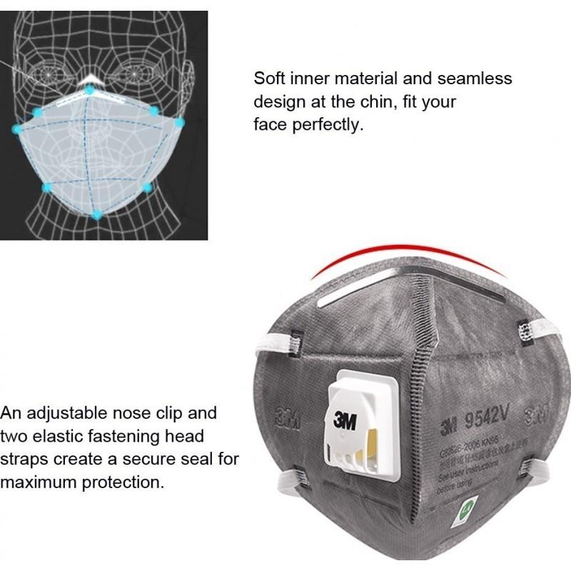 349,95 € Бесплатная доставка   Коробка из 50 единиц Респираторные защитные маски 3M 9542 В KN95 FFP2. Респираторная защитная маска с клапаном. PM2.5 Респиратор с фильтром частиц