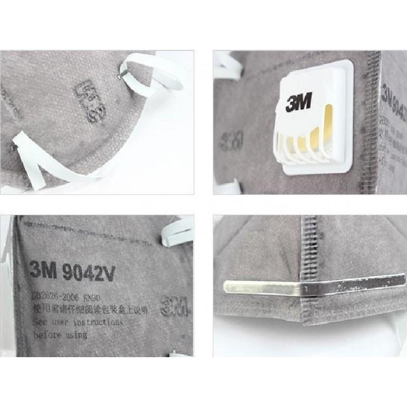 349,95 € Envio grátis | Caixa de 50 unidades Máscaras Proteção Respiratória 3M 9542V KN95 FFP2. Máscara de proteção respiratória com válvula. Respirador com filtro de partículas PM2.5