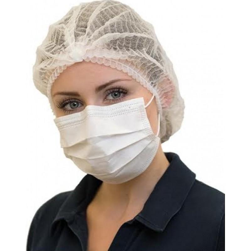 Caja de 100 unidades Mascarillas Protección Respiratoria Mascarilla sanitaria facial desechable. Protección respiratoria autofiltrante. Transpirable con filtro de 3 capas