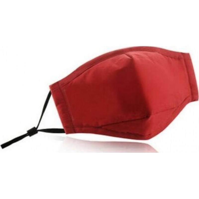Caja de 5 unidades Mascarillas Protección Respiratoria Color rojo. Mascarilla de protección respiratoria reutilizable con 50 piezas de filtros de carbón