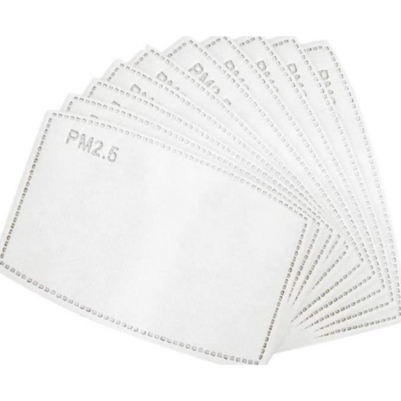 Boîte de 5 unités Masques Protection Respiratoire Couleur rouge. Masques de protection respiratoire réutilisables avec 50 filtres à charbon