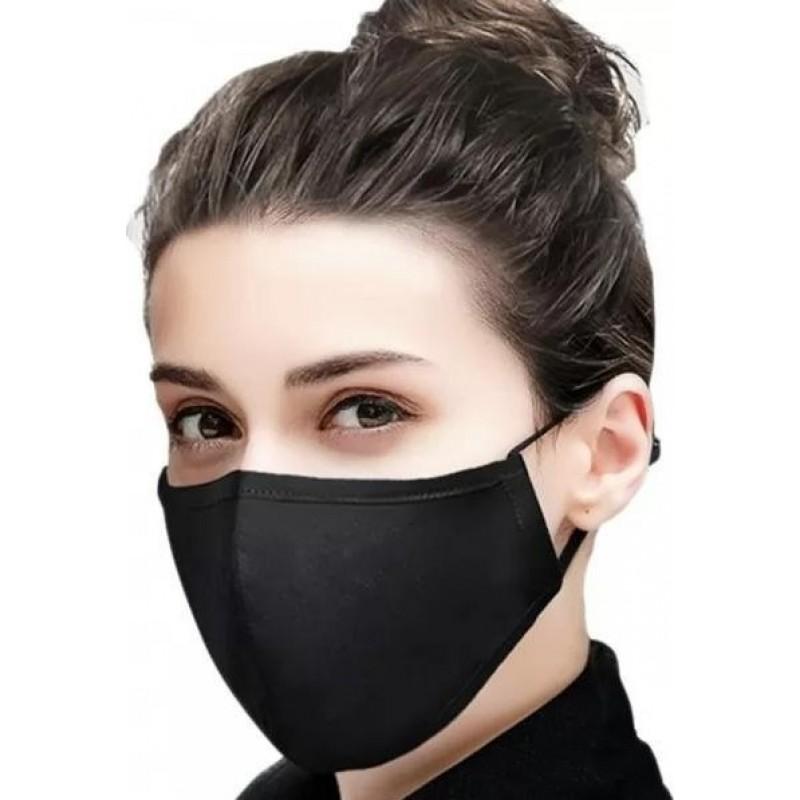 5 Einheiten Box Atemschutzmasken Schwarze Farbe. Wiederverwendbare Atemschutzmasken mit 50 Stück Kohlefilter