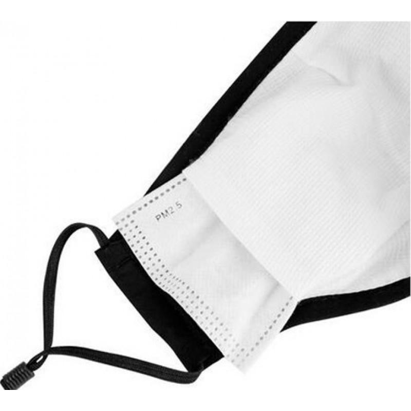 69,95 € 送料無料 | 5個入りボックス 呼吸保護マスク 黒色。 50個の木炭フィルターが付いている再使用可能な呼吸保護マスク