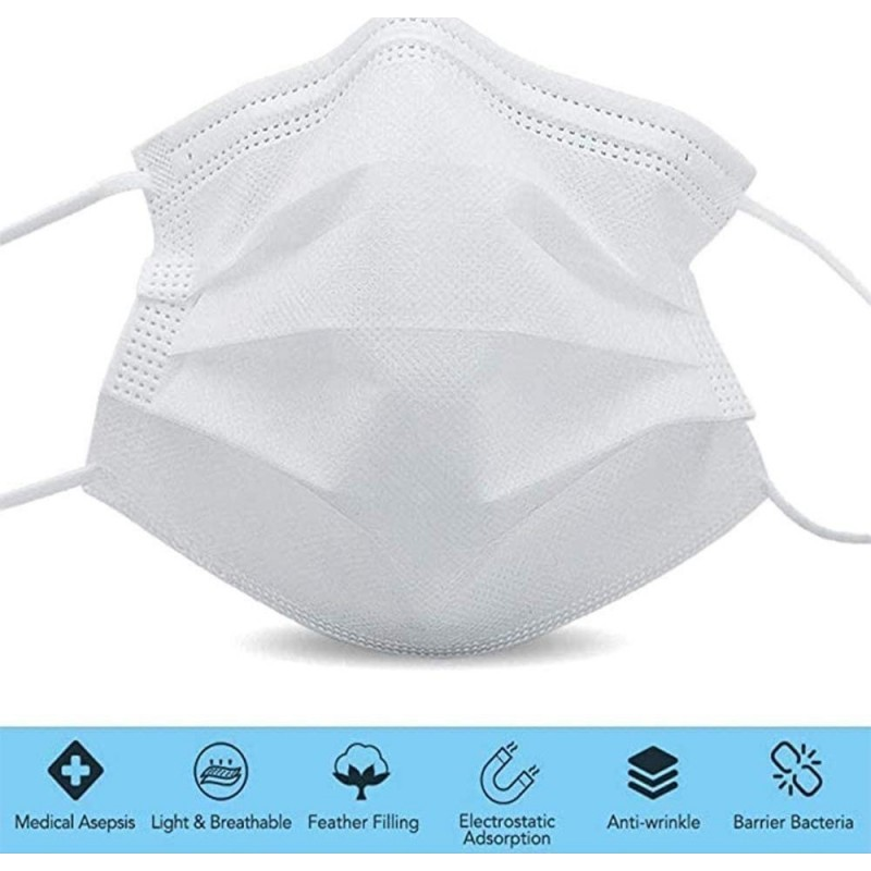 125,95 € Free Shipping | 500 units box Respiratory Protection Masks Disposable facial sanitary mask. Respiratory protection. Breathable with 3-layer filter