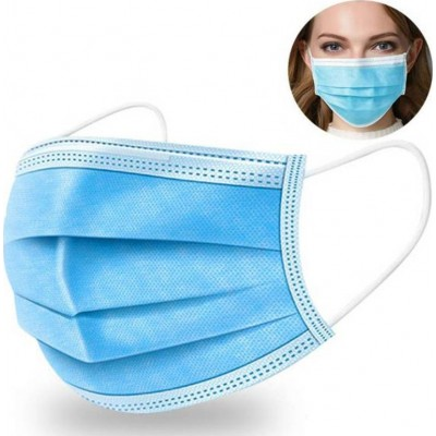 119,95 € Envio grátis | Caixa de 500 unidades Máscaras Proteção Respiratória Máscara sanitária facial descartável. Proteção respiratória. Respirável com filtro de 3 camadas