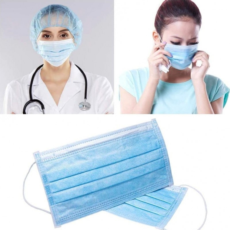 99,95 € Free Shipping | 500 units box Respiratory Protection Masks Disposable facial sanitary mask. Respiratory protection. Breathable with 3-layer filter